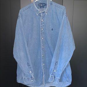 Ralph Lauren denim button down shirt size large